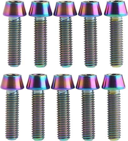 Titanium M5 x 15mm Tapered Ti Bolt Taper Hex Allen Socket Head Screw GR5