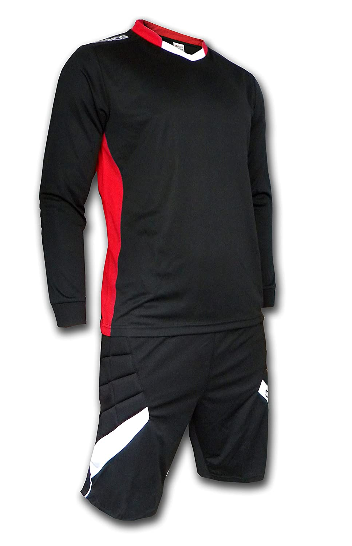 80fd0a61a51 ICHNOS adult size black football padded goalkeeper kit shirt + shorts  (XXL): Amazon.co.uk: Sports & Outdoors
