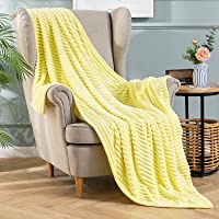 MIULEE Soft Cute Couch Throw Blanket with Striped Pattern, Warm Cozy Throw Blankets for Couch Bed Chair,Reversible…