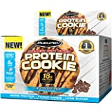 MuscleTech Soft Baked Whey Protein Cookie, Chocolate Chip, Gluten-Free, 3.25-ounce (Pack of 6 - 92g)