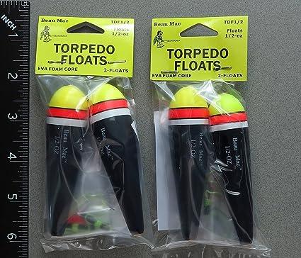 Dos paquetes Torpedo EVA espuma flotadores 1/2 oz