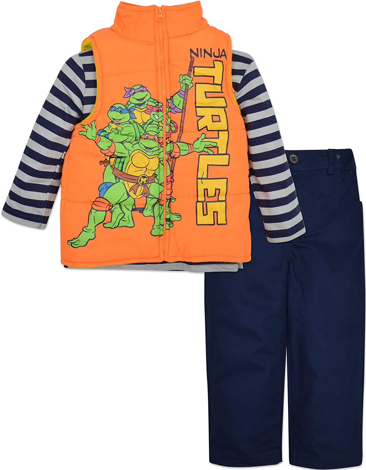 Ninja Turtles Vest Shirt and Pants Set Toddler Boy