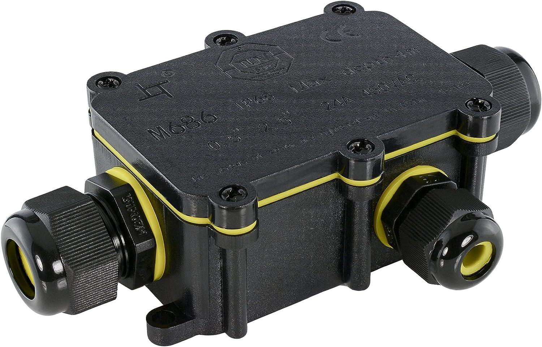 5x Abzweigdose Wasserdichte IP67 Klemmdose 3-Wege Elektrische Dosenmuffe Durable