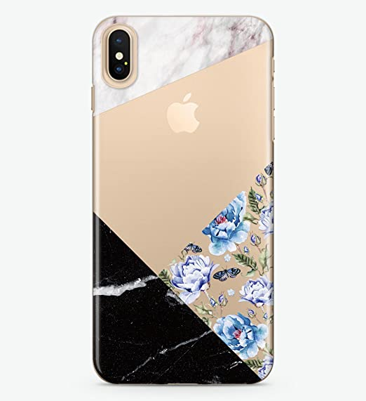 new style c346d f18bf Amazon.com: Hanogram Floral & Marble - iPhone X Case: Cell Phones ...
