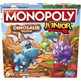 Hasbro Gaming Monopoly Junior: Dinosaur Edition Board Game for 2-4 Players, Fun Indoor Games for Kids Ages 5 and Up, Dinosaur