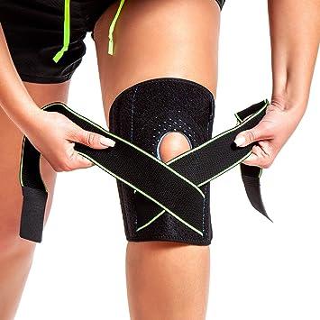 5211d21682 Knee Brace Support - Adjustable Open Patella Stabilizer for Arthritis,  Meniscus Tear, ACL,