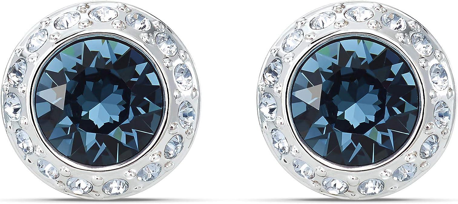 Retro Pierced Earrings-Rhinestone Stars-R3847