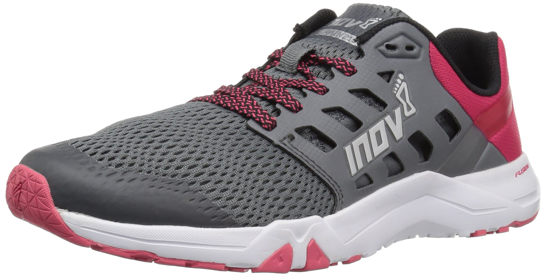 inov-8 Women's All Train 215 (W) Cross Trainer, Grey/Pink, 11 B US