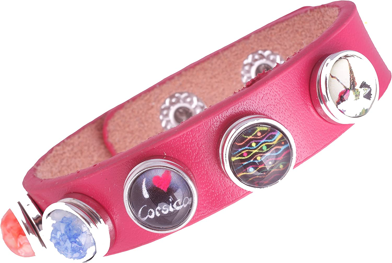 Pulsera para mini botones de presión Click Button weckselschmuck sin Buttons (campink)