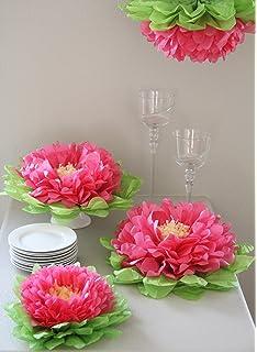 Amazon martha stewart crafts 44 10219 tissue pom pom kit peach butterfly craze girls party decorations set of 7 pink tissue paper flowers mightylinksfo