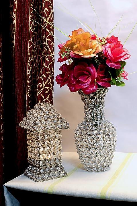 Amazon Glass Crystal Flower Vase Pots Wedding Table
