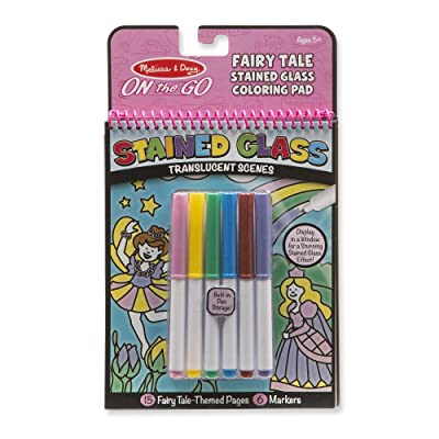 Melissa & Doug On the Go Stained Glass Coloring Pad - Fairy Tale (Great Gift for Girls and Boys - Best for 5, 6, 7, 8, 9 Year Olds and Up): Toys & Games