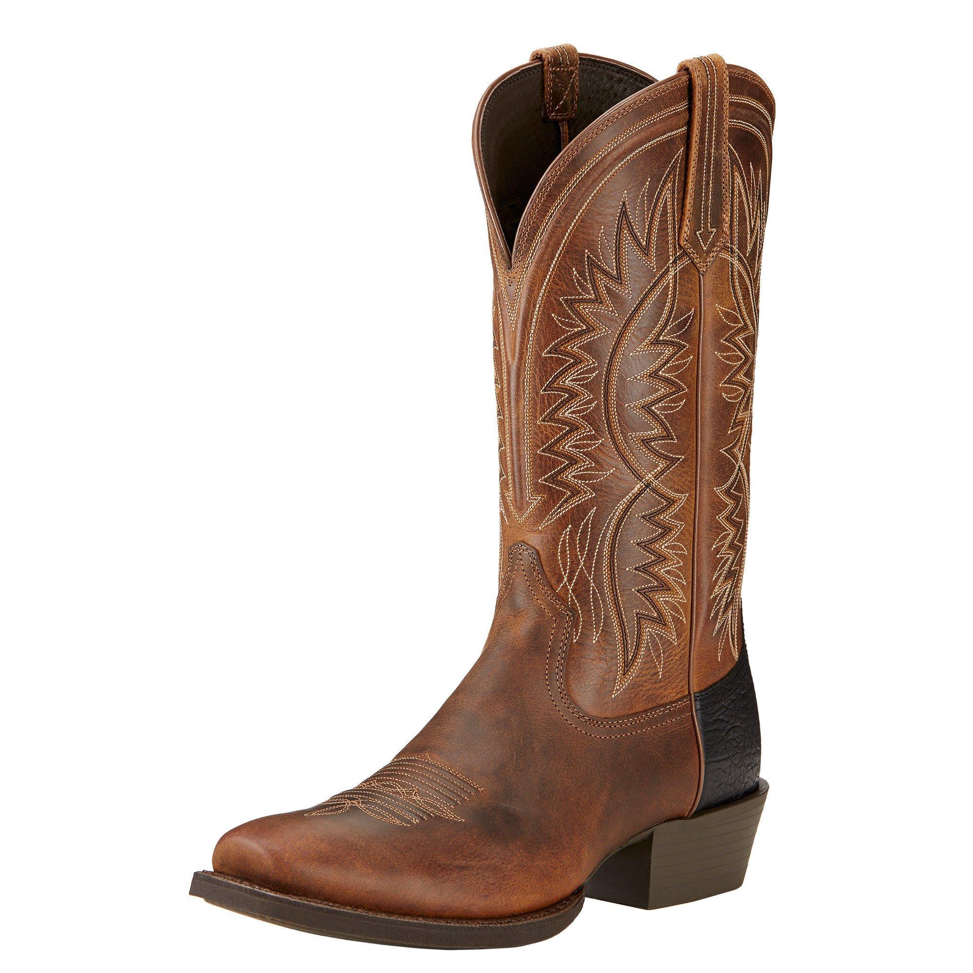 Ariat Men's Troubadour Western Cowboy Boot, Powder Brown, 10.5 D US
