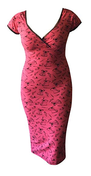 Switchblade Stiletto Womens Annabella Dress (Small, Pink Corset)