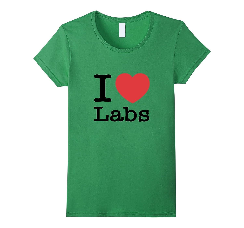 I Love Labs Heart Labrador Shirt