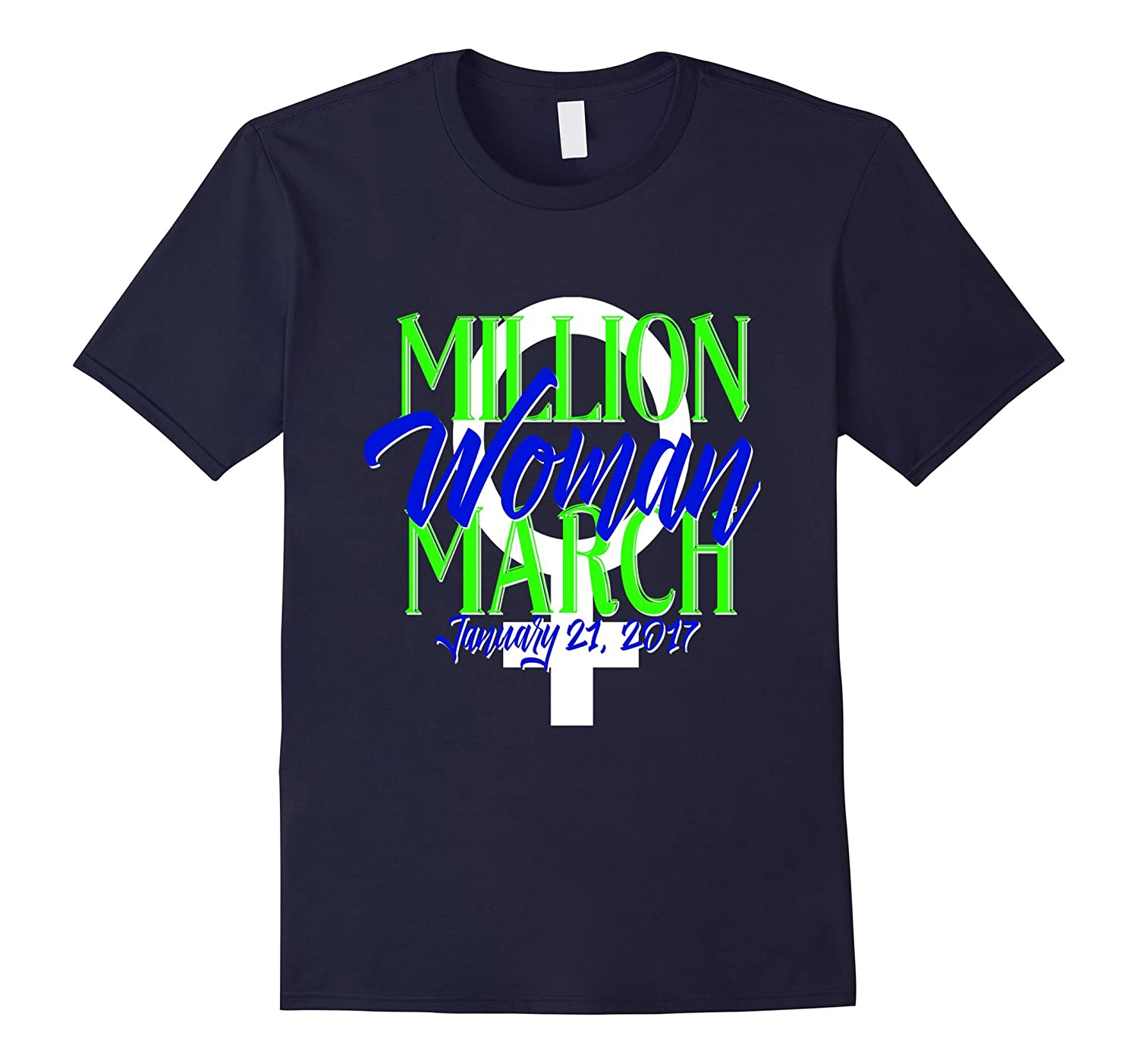 Million Women March Shirt MWM Nasty DC Feminist Blue-Art