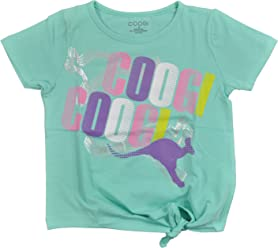 Coogi Big Girls Mint Shirt With Tie Front Closure