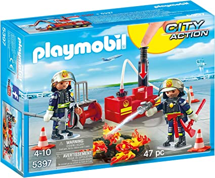 PLAYMOBIL® Firefighting Operation with Water Pump Building Set