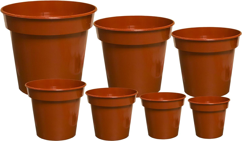 Elixir Gardens /® Plant Pots Terracotta Strong Quality Plastic Cactus//House Plant Pot Various Sizes JFH