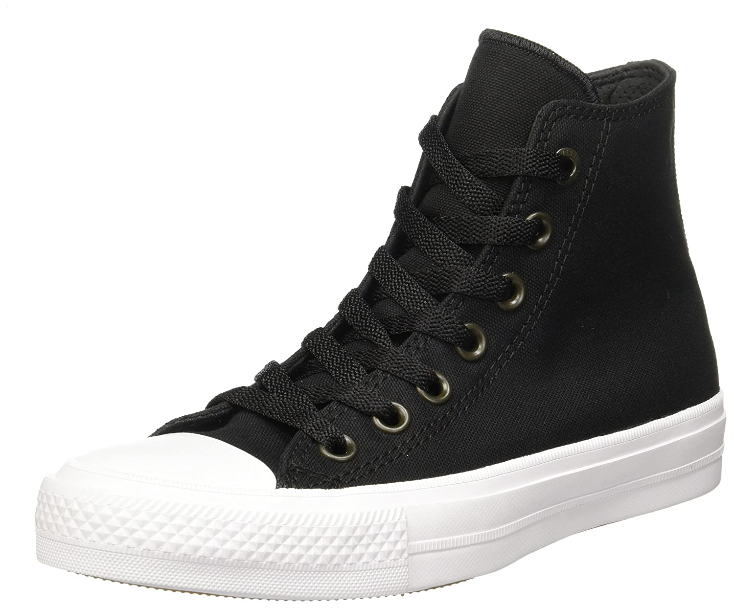 2ce33c021ba1f Converse Chuck Taylor All Star II Blk Wht Men 10.5 M US Wm 12.5 M US Black/ Black 7.5 B(M) US Women / 5.5 D(M) US Men: Buy Online at Low Prices in ...