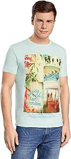 oodji Ultra Uomo T-Shirt Larga con Stampa Spiaggia