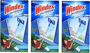 Windex Outdoor All-in One Glass Cleaning Tool Starter Kit (Packf of 3) Made in USA