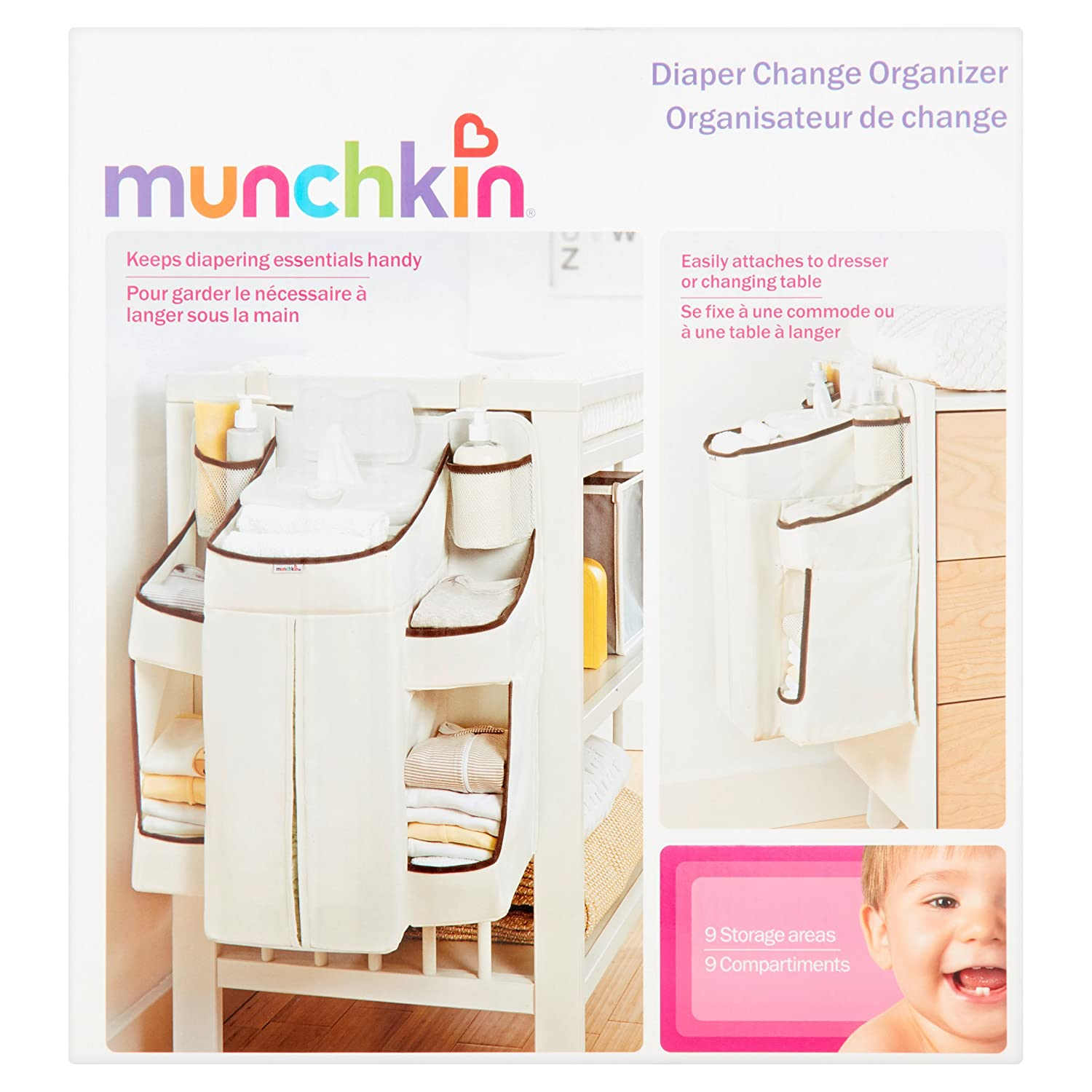 Amazon.com : hanging Diaper Change Organizer before or after feeding caddy for changing table : Baby
