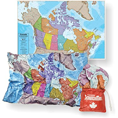 "Waypoint Geographic ScrunchMap - Foldable Water Resistant Lightweight Map with Easy Stow & Go Pouch 24"" X 36"" (Canada MAP): Toys & Games"
