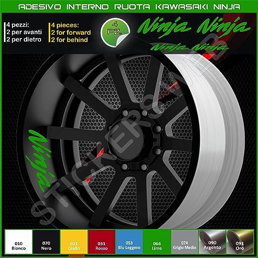 Kawasaki NINJA pegatinas rueda interior diseño de círculos ...