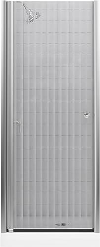 KOHLER K-702400-G54-MX Fluence Frameless Pivot Shower Door, Matte Nickel