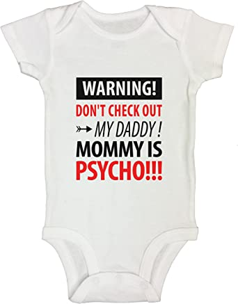 Childrens funny T-shirt//bodysuit Mummy is psycho kids//toddler//baby