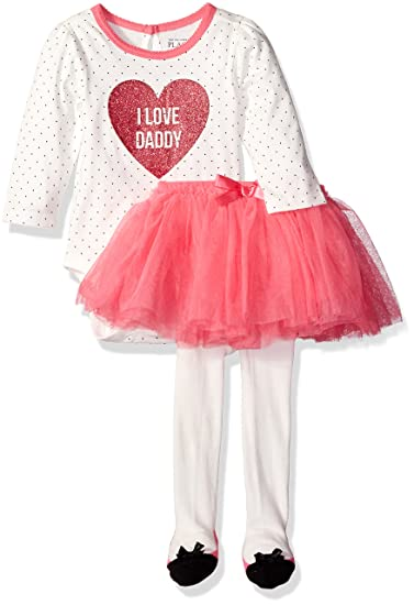 The Childrens Place Baby Girls Halloween Top and Skirt Set