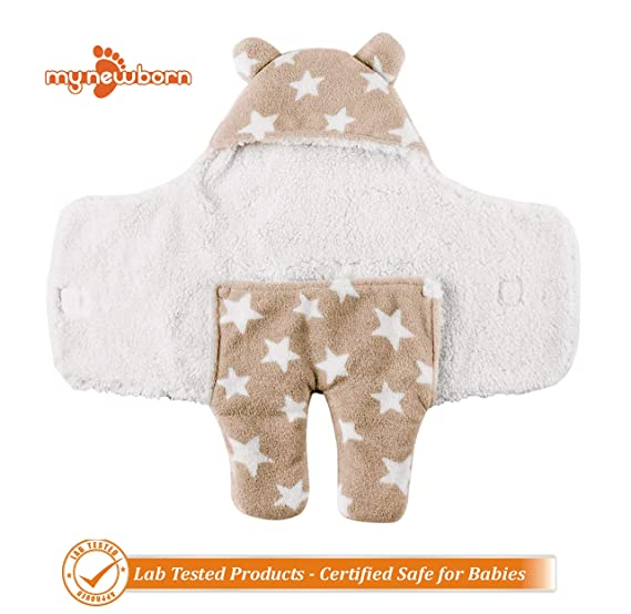 My NewBorn Wrappers Supersoft 2 Layer Baby Blanket -Combo of 2 Pieces