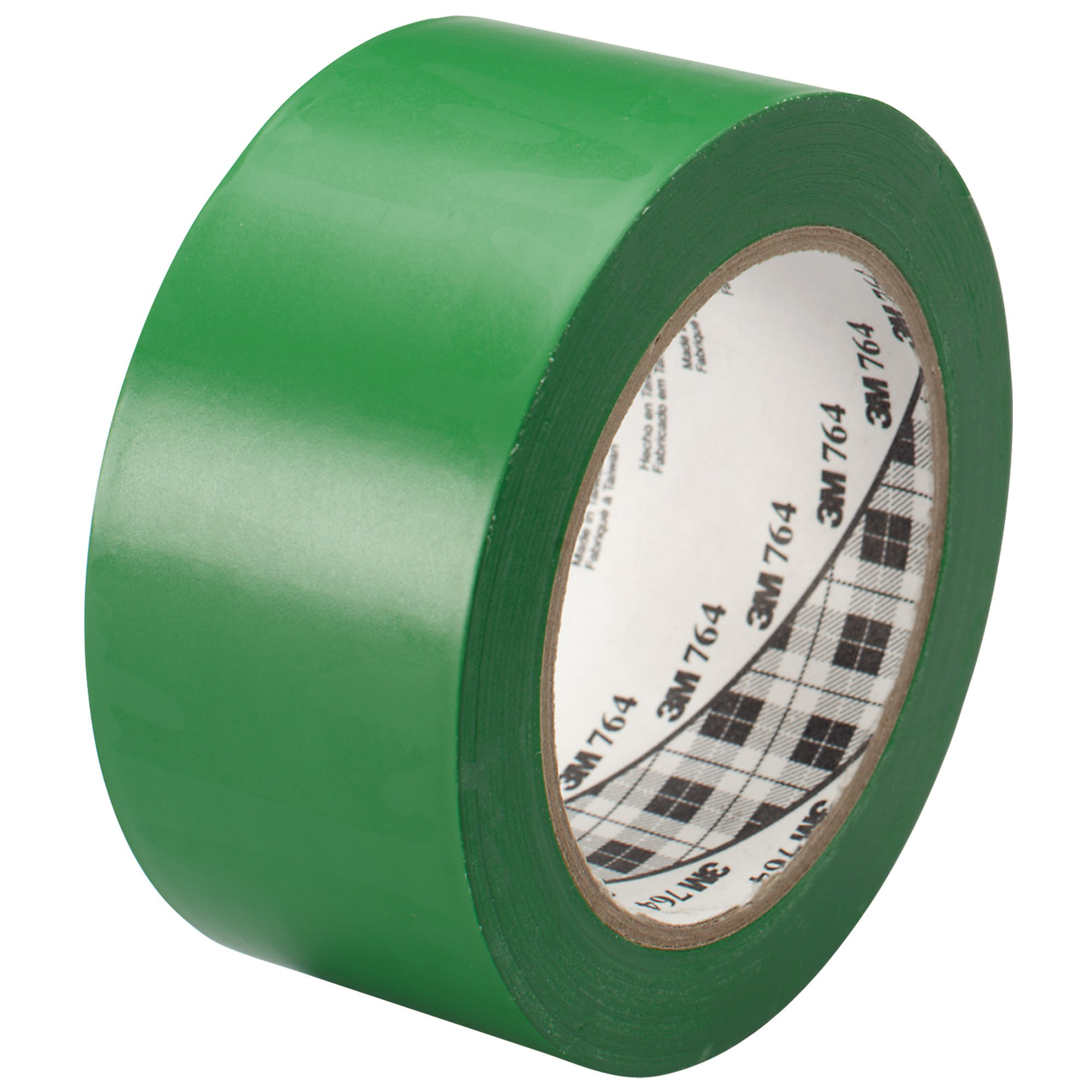 3M T967764G Vinyl Tape, 2'' x 36 yd, Green (Pack of 24)