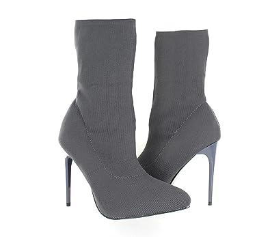 93bd0db2fa1ec Amazon.com | Urban Heel Women's Knit Sock Boots Stiletto Heel Ankle ...