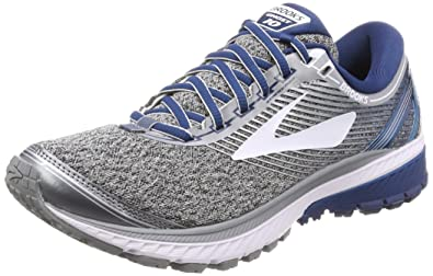 0ea103945c2 Brooks Men s Ghost 10 Silver Blue White 7 D US