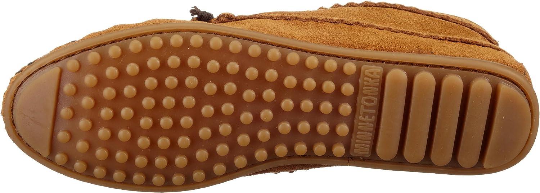 Minnetonka Suede Ankle Damen Kurzschaft Mokassin Boots