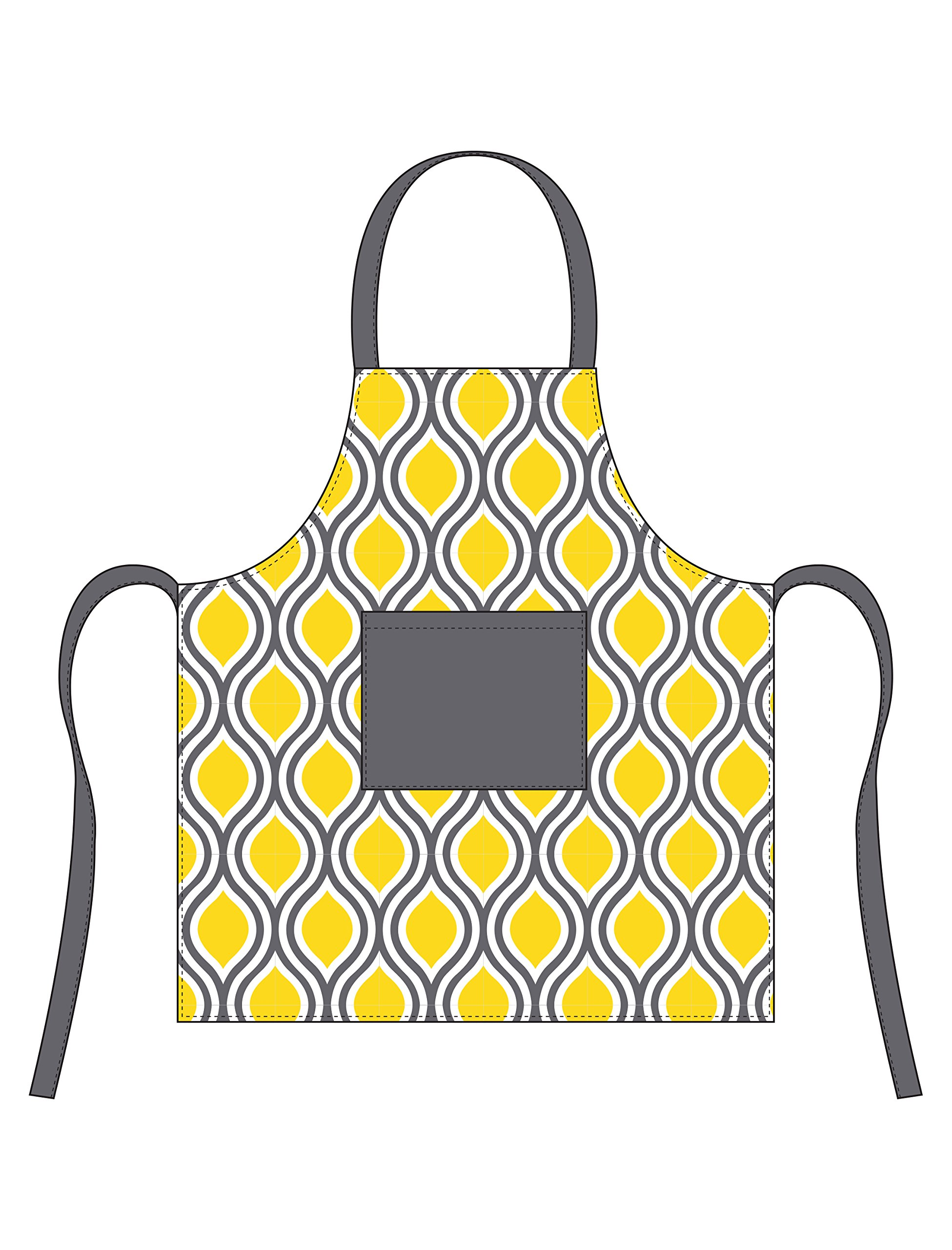 HOTEL Tear Apron, Yellow/Grey