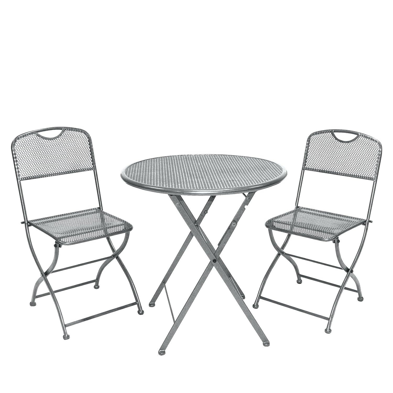 Amazon.de: Greemotion Balkonset Estera, Grau, Tisch: ca. Ø 60 Höhe ...