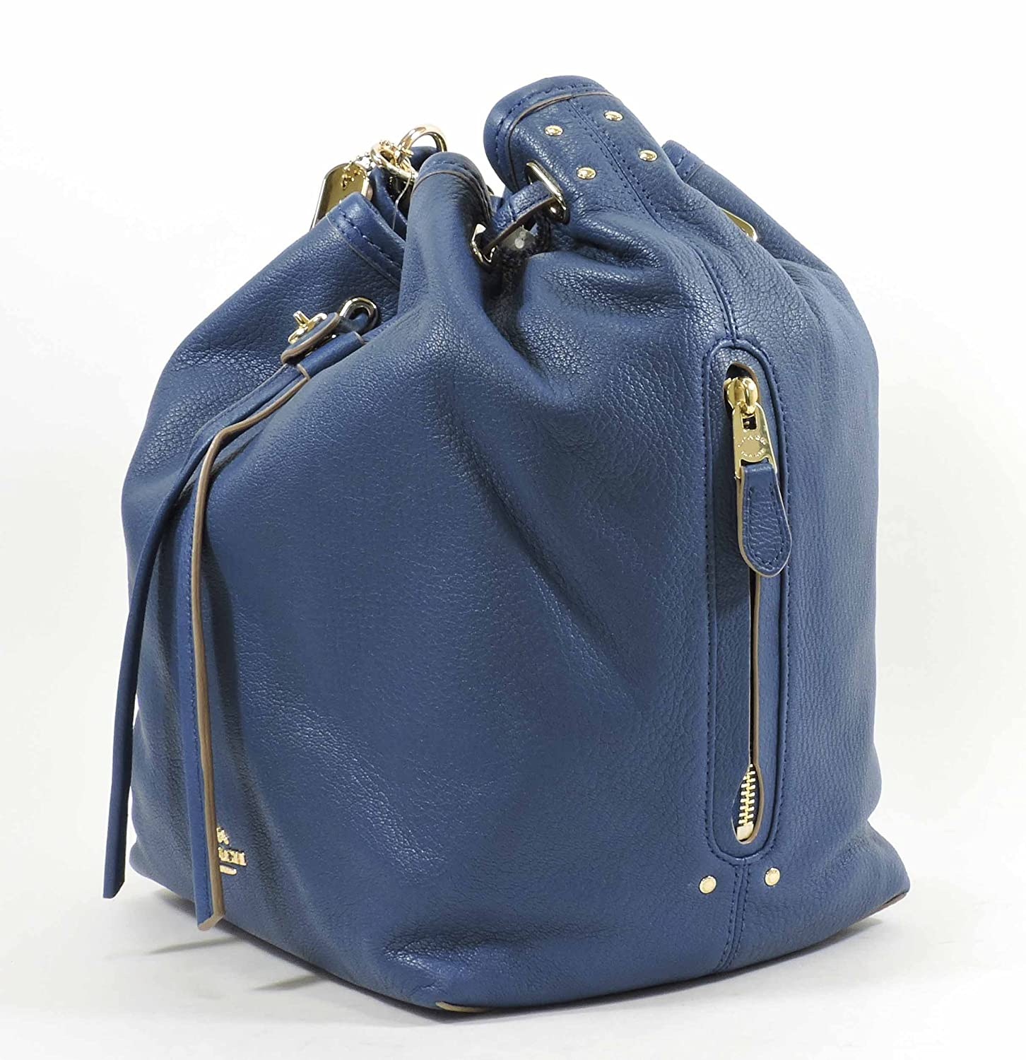 22ce1add02 COACH Women s Matte Soft Grain Turnlock Tie Bucket Bag LI Denim Cross Body   Handbags  Amazon.com