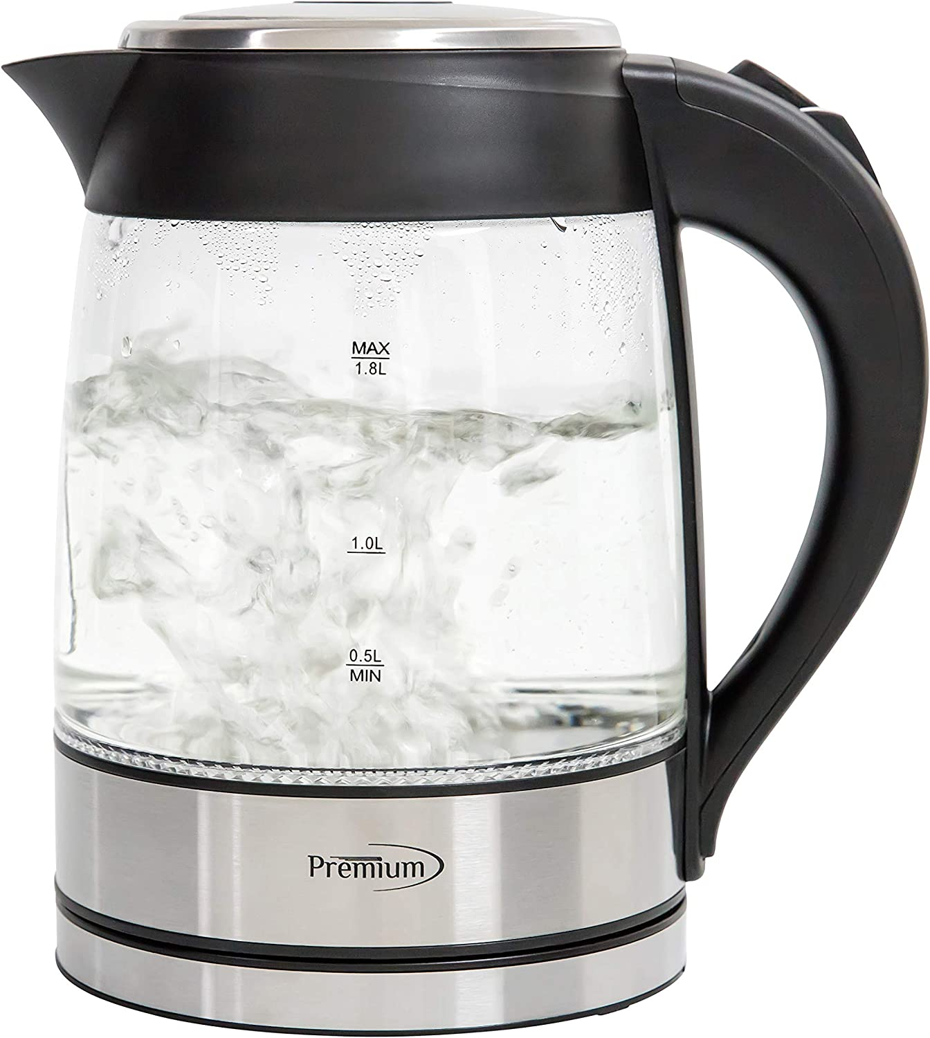 PREMIUM PTK5190 2 Quart Glass Electric Tea Kettle