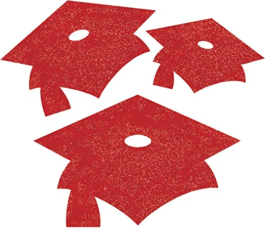 Graduation Hats Party Fanci Fetti Red Party Supplies Home Garden