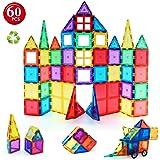 Children Hub 60pcs Magnetic Tiles Set - Premium Quality Educational Toys For Your Kids