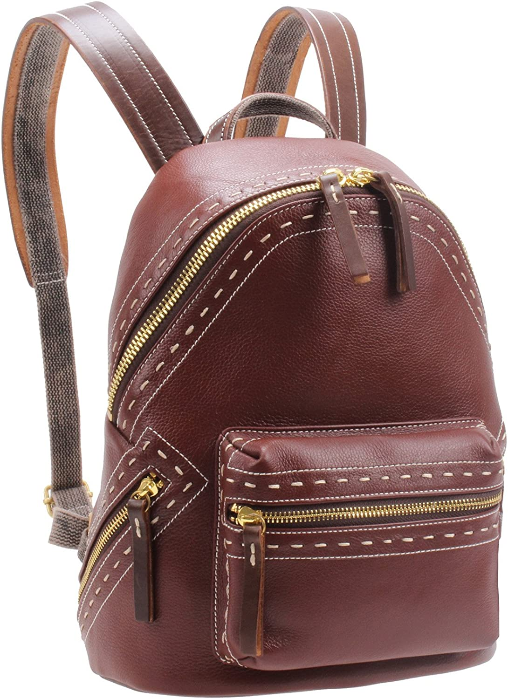 IBLUE Womens Travel Backpack Ladies Casual Genuine Leather Shoulder Bag