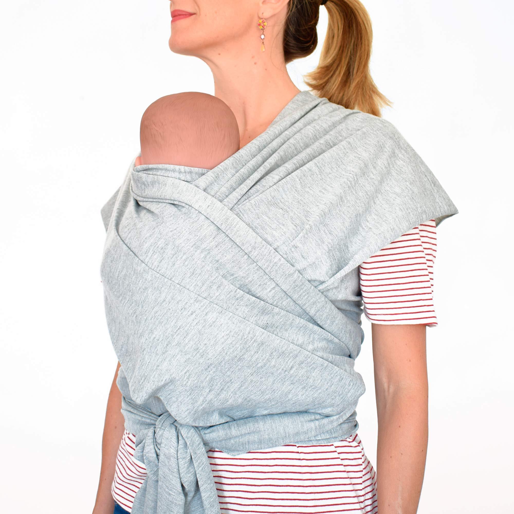 Fular portabebés 100% de algodón- Amplio tamaño - Porteo seguro y ergonómico durante la