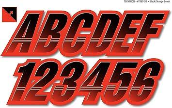 STIFFIE Techtron TT97-SS Sea-Doo Spark Registration Numbers Decals ORANGE CRUSH