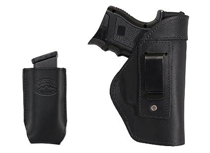 Amazon com : Barsony New Black Leather IWB Holster + Single