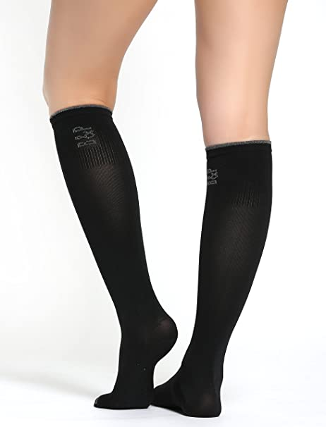 Buttons & Pleats Graduated Compression Socks for Women