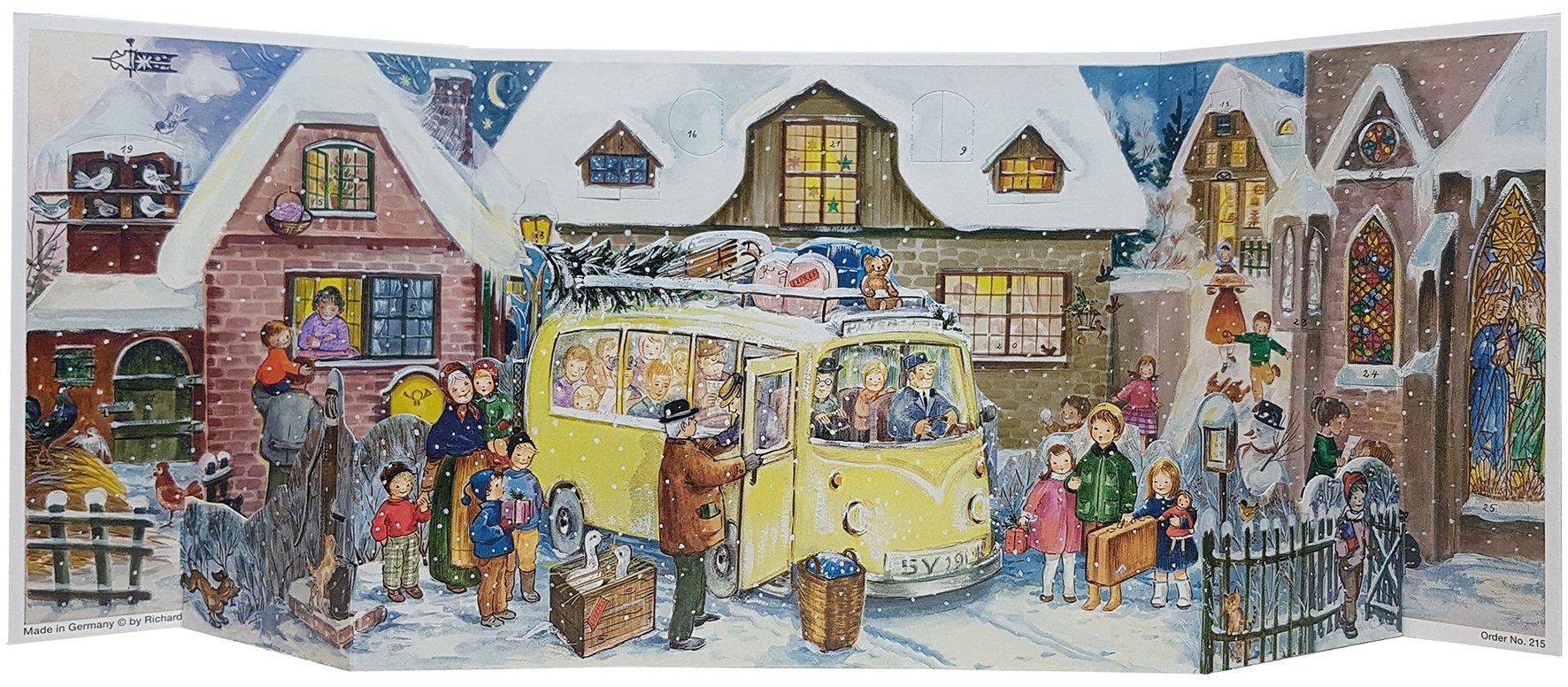 Richard Sellmer Christmas Bus - 3D Panorama Advent - German Advent Calendar by Richard Sellmer (Image #1)