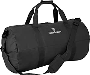 """Medium Duffle Bag – Black 32""""x18"""" - 133.4L - Canvas Military and Army Cargo Style Duffel Tote for Men and Women– Gym, Hiking and Storage Shoulder Bag"""